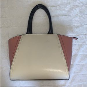 Forever 21 pink and off white bag